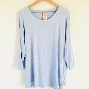 Philosophy Light Blue Tunic Top